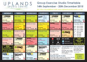 Studio Timetable Sept-Dec 2015